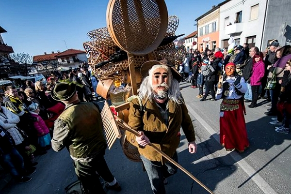 Pust is here carnival in Ilirska Bistrica